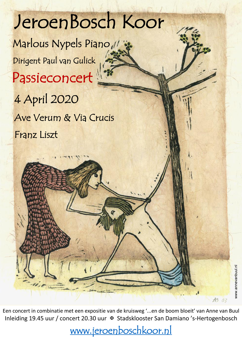 ...en de boom bloeit X kruisweg Expositie Anne van Buul in het Franciscushuis Den Bosch