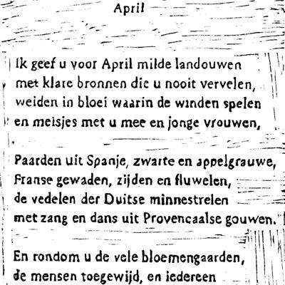 april tekst